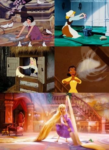 Disney-Princess-cleaning