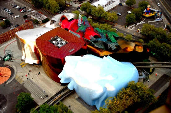 Aerial view of EMP Museum, by Neeravbhat